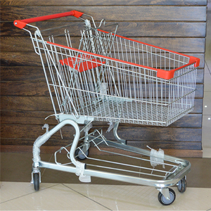 SHOPPING TROLLEY 925x550x1025CM 4WHEEL 360 DEGREE SWIVEL