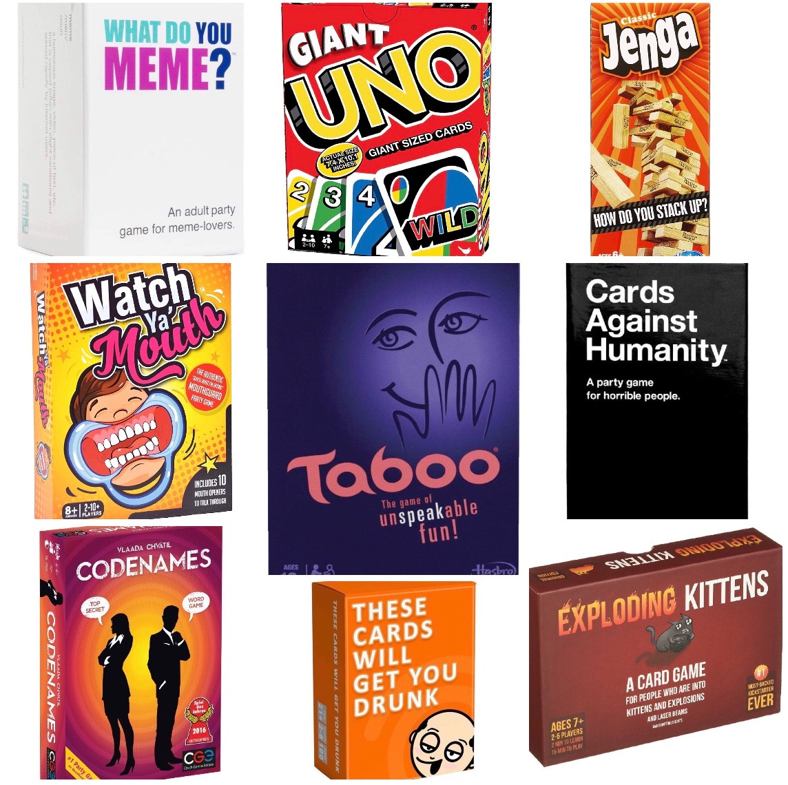 Rent any 3 Board Games (from our List) for 2 Days for ONLY $150.00 (RENT)