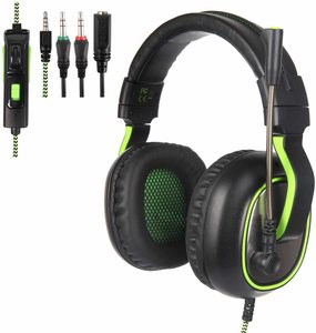 SUPSOO G820 Gaming Headset, 3.5mm Wired Over-Ear Noise Isolating Microphone Volume Control for Mac/PC/Laptop / PS4/Xbox one - Black