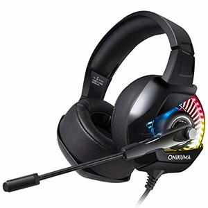 ONIKUMA K6 Game Headset Stereo Headphone, Black for PS4, PC,Xbox One, iPhone, Android etc