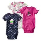 JUST ONE YOU Made by Carter's � Infant Girls 3 Pack Bodysuit Set - Navy