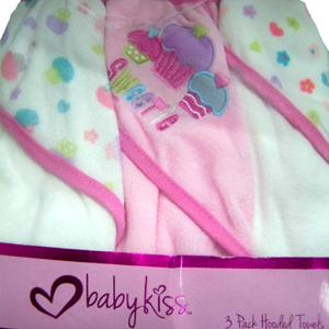 BabyKiss - 3 Pack Hooded Towels