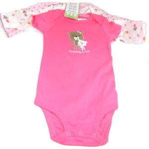 Just One You made by Carter's - 3 Bodysuits (1Short Sleeve & 2 Long Sleeve) (9 months)