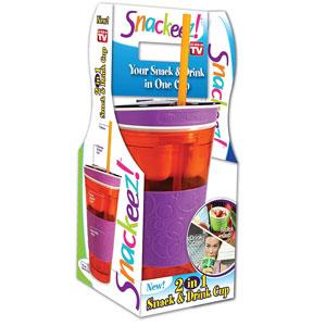 Snackeez Plastic 2 in 1 Snack & Drink Cup (1 Cup)