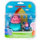 Peppa Pig Daddy and George Figures Twin Pack