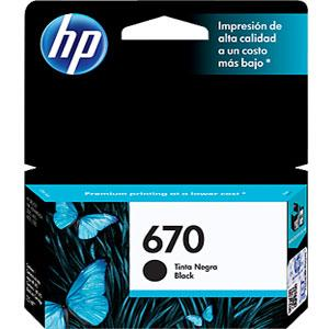 HP 670 Black Ink