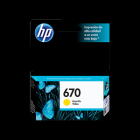 HP 670 Yellow Ink