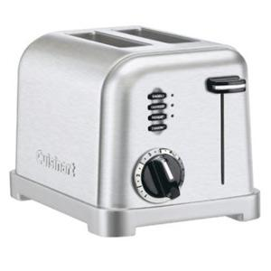 Cuisinart CPT-160 Metal Classic 2-Slice Toaster, Brushed Stainless