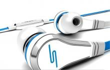 High Quality Wired Earbud Headphones - White/Blue
