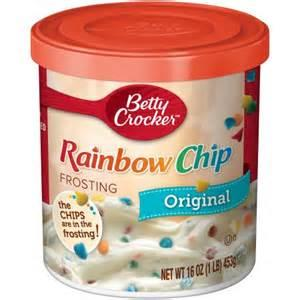 BETTY CROCKER ORIGINAL FROSTING RAINBOW CHIP 453G