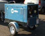 Miller Generator & Welding Plant Industrial (On Trailer with 100FT Leads, 12,000 Watts) (Rental)