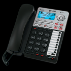 AT&T 2-Line Corded Phone with Digital Answering System - Black/Silver (Rent-to-Own)