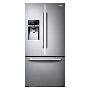 Samsung 26 Cu. Ft (French Style 3 Doors) Stainless Steel Refrigerator with Twin Cooling & Ice & Water Dispenser on Door