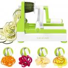 CaCaCook Spiralizer Vegetable Slicer - 4 Blades Zoodle Maker,Veggie Spiralizers Zuchinni Spiral Noodle Spaghetti Maker, free download recipes ebook ,with peeler and cleaning brush