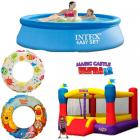 Wet and Wild Birthday Combo - 8ft Pool & Bouncy Castle (RENT)
