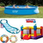 Wet and Wild Birthday Combo - 13ft Pool, Surf 'N Slide Play Center & Bouncy Castle (RENT)