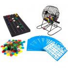 Deluxe Bingo Set - 6-Inch Metal Cage with Calling Board, 75 Colored Balls, 300 Bingo Chips, & 50 Bingo Cards for Large Group Games by Royal Bingo Supplies  (RENT)