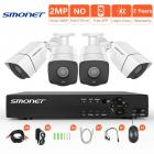 SMONET Security Camera System Outdoor, 4CH 5-in-1 HD DVR Surveillance Camera System,4pcs Weatherproof Security Cameras,Super Night Vision