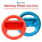 Ematic Nintendo Switch Steering Wheel 2-Pack - Red, Blue