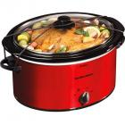 Hamilton Beach 5 Quart Portable Oval Slow Cooker, Red
