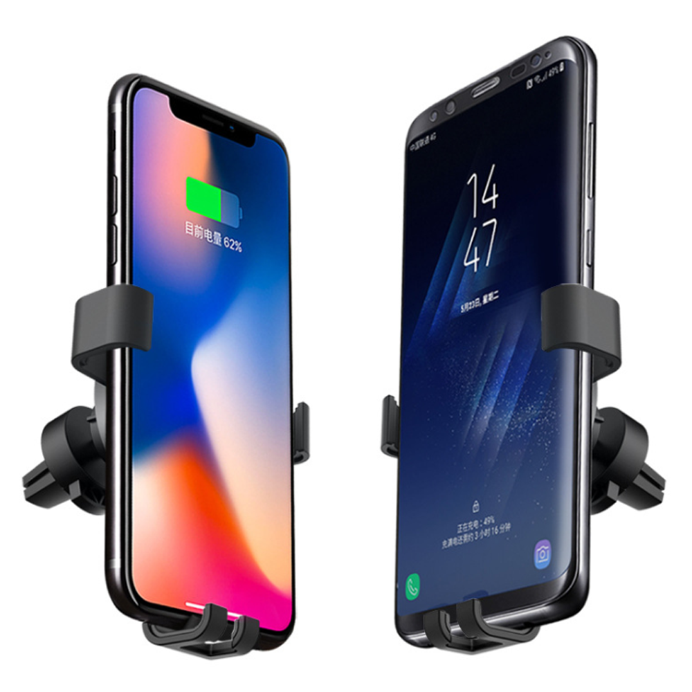 Premium 2 in 1 Wireless Fast Car Charger & Phone Mount for Android and Apple Phones