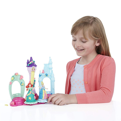 Play-Doh Royal Palace Playset Featuring Disney Princess Cinderella and Ariel, Ages 3 and up