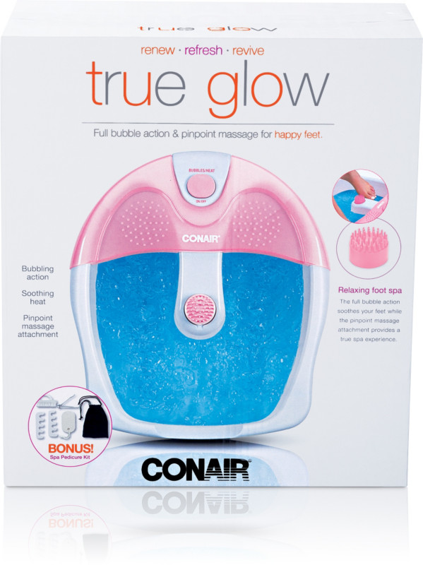 Conair True Glow Full Bubble Action & Pinpoint Relaxing Foot Spa