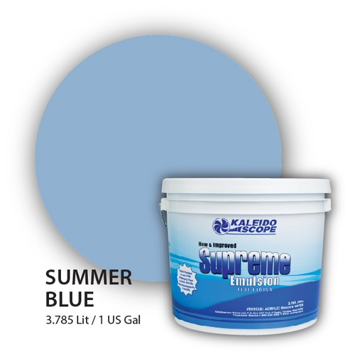 Supreme Emulsion Water Based Acrylic Resin (Summer Blue)