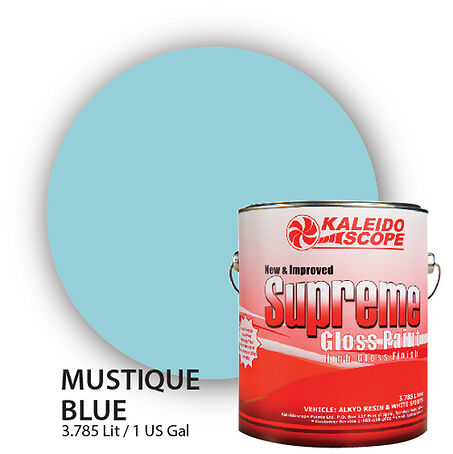 Supreme Gloss Oil Paints Enamels (Mustique Blue)