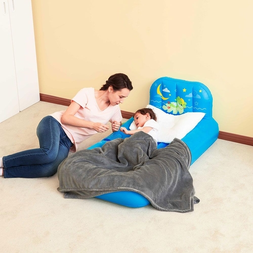 "BESTWAY FISHER-PRICE 52""X30\""X18\"" DREAM GLIMMERS BLUE AIRBED"