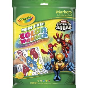 Crayola Color Wonder Superhero Squad Coloring Pad & Markers