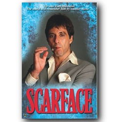 Scarface Movie Poster (Dry Mounted)