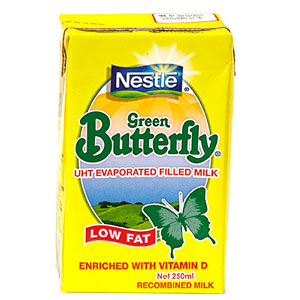 NESTLE GREEN BUTTERFLY UHT EVAPORATED FILLED MILK - LOW FAT (250ML)