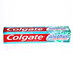 Colgate Max Fresh Whitening Gel with Mini Breath Strips - 6.0 OZ (170g)