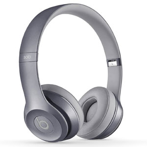 Beats Solo 2.0 Wired On-Ear Headphones (Stone Grey)