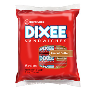 Bermudez Dixee Peanut Butter Filled Crackers (6 Packs)