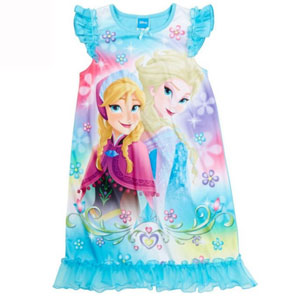 Disney Anna, Elsa and Olaf Sparkly Frozen Nightgown, Girls Sizes