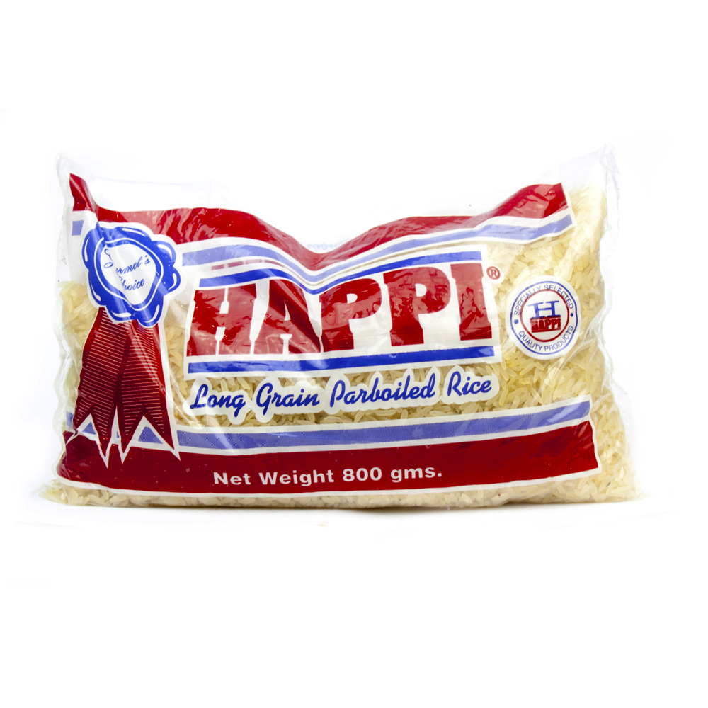 Happi Long Grain Parboiled Rice 800KG