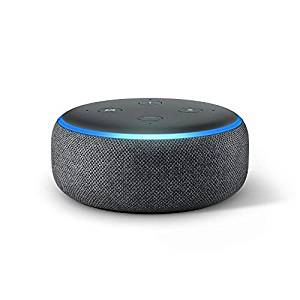 Echo Dot (3rd Gen) - New and improved smart speaker with Alexa - Charcoal