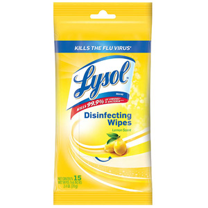 Lysol Disinfecting Wipes - 15 Count