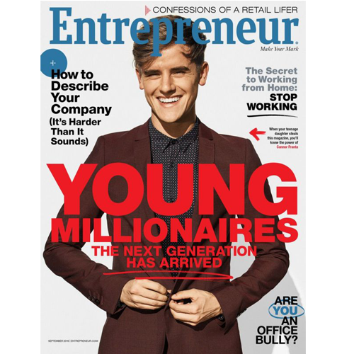 Entrepreneur Magazine: September 2016