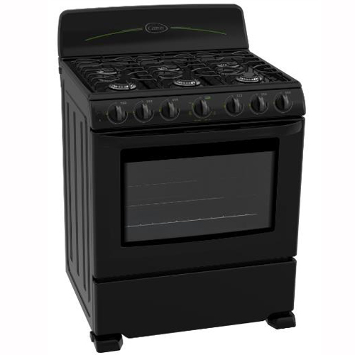 CETRON 30 Inch Gas Range Porcelain Steel Top Stove (Black) (Rent-to-Own)