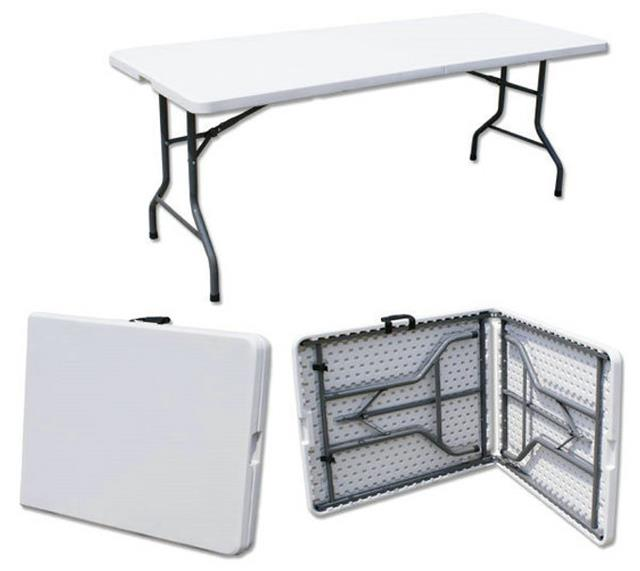 HEAVY DUTY 6FT FOLDING TABLE HDPE OFF WHITE (RENT)