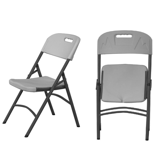 HEAVY DUTY FOLDING CHAIR HDPE OFF WHITE (RENT)