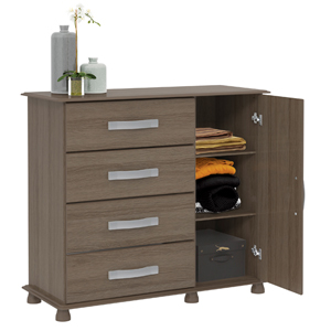 ARIANA 4DRW CHEST WITH CUPBOARD DOOR