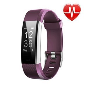 LETSCOM Fitness Tracker HR, Activity Tracker with Heart Rate Monitor Watch, IP67 Waterproof Smart Wristband with Calorie Counter Watch Pedometer Sleep Monitor for Kids Women Men (Purple)