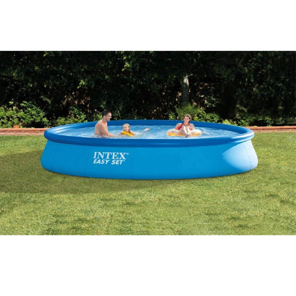 Intex 13\' X 33\'\' Easy Set Above Ground Swimming Pool with Filter Pump, 13ftx33in (RENT - 24hrs)