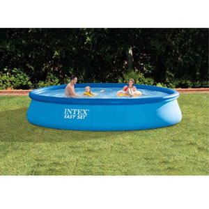 Intex 13\' X 33\'\' Easy Set Above Ground Swimming Pool with Filter Pump