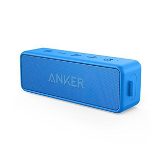 Anker SoundCore 2 12W Portable Wireless Bluetooth Speaker: Better Bass, 24-Hour Playtime, 66ft Bluetooth Range, IPX5 Water Resistance & Built-in Mic, Dual-Driver Speaker for Beach, Travel, Party