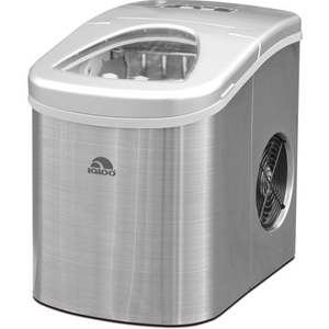 Igloo ICEB26SS Automatic Portable Electric Countertop Ice Maker Machine, 26 Pounds in 24 Hours, 9 Ice Cubes Ready in 7 minutes, With Ice Scoop and Basket, Perfect for Water Bottles, Mixed Drinks